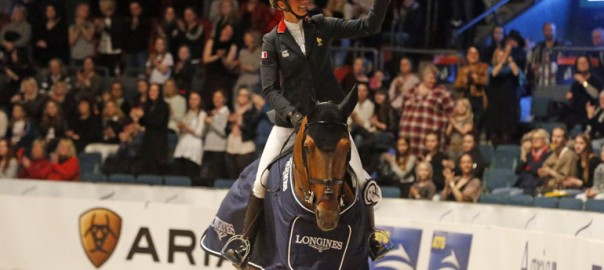 "Penelope Leprevost on Vagabond de la Pomme: ""He has a super character, and a lot of scope!"" Photo (c) Jenny Abrahamsson."